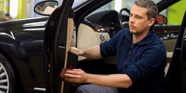 Profi čištění interiéru vozidla