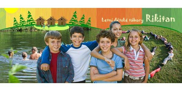 Letní dětský tábor u Telče. 11 dní dobrodružství