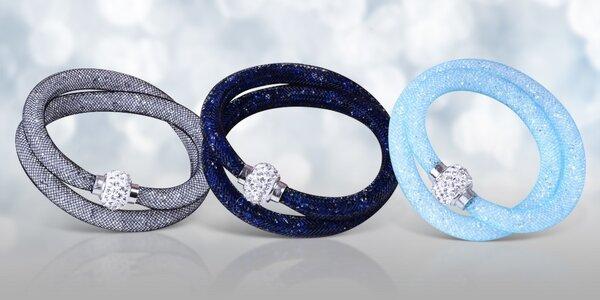 Dutinkové náramky se třpytivými krystaly