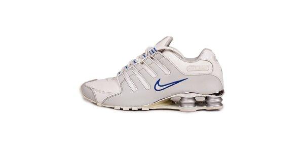 Pánské bílé tenisky s modrými detaily Nike