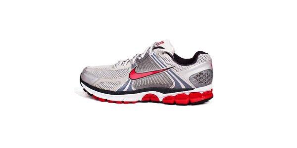 Pánské červeno-bílé běžecké tenisky Nike