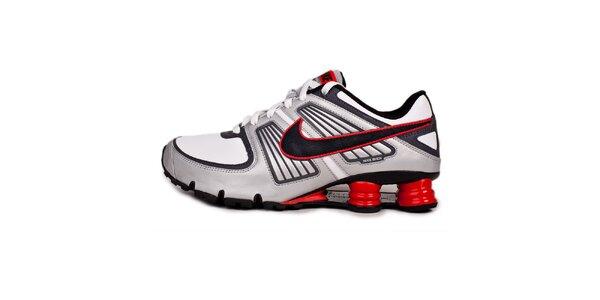Pánské červeno-šedé tenisky Nike