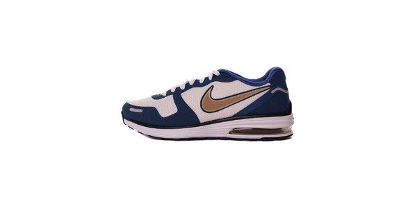 Pánské modro-bílé tenisky s béžovým logem Nike
