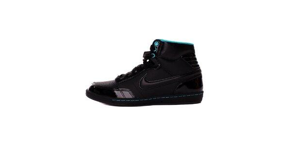 Dámské černo-modré kotníkové tenisky Nike