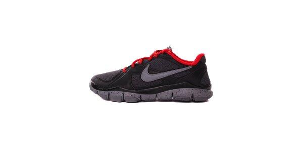 Pánské černo-šedé běžecké tenisky Nike