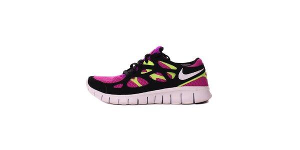Dámské fuchsiovo-zelené běžecké tenisky Nike