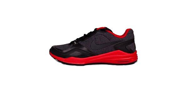 Pánské červeno-černé běžecké tenisky Nike