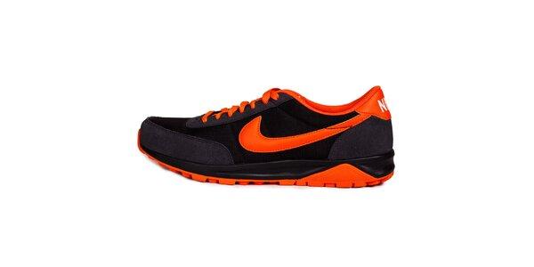Pánské oranžovo-černé běžecké tenisky Nike