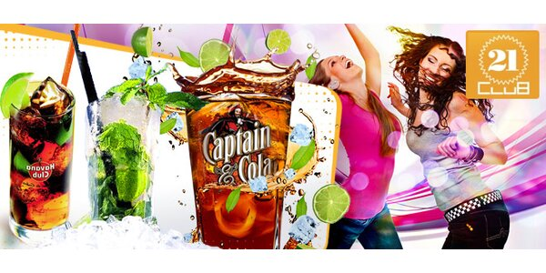 TŘI drinky Cuba Libre, Mojito a Morgan Spiced s colou