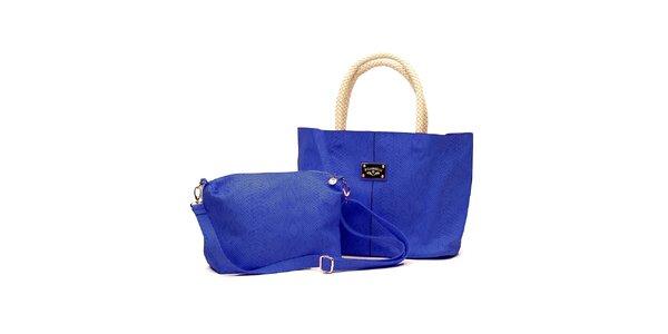 Dámský set modrých kabelek s béžovými detaily Princess Cult