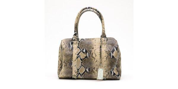 Dámská béžová kabelka s hadím vzorem a visačkou Princess Cult