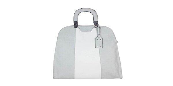 Dámská šedo-bílá retro kabelka Princess Cult