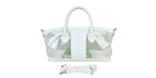 Dámská bílá průhledná kabelka Princess Cult