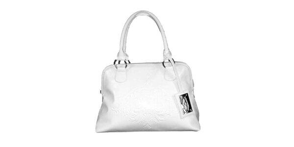 Dámská bílá kabelka s plastickým vzorem Princess Cult