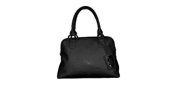 Dámská černá kabelka s plastickým vzorem Princess Cult