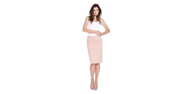 Dámská růžová sukně Moschino Cheap & Chic s mašlí