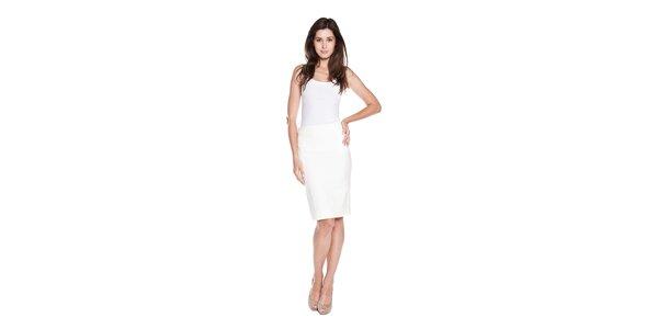 Dámská bílá sukně Moschino Cheap & Chic s mašlí