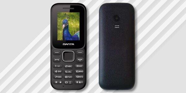 Jednoduchý tlačítkový mobil Manta TEL1711