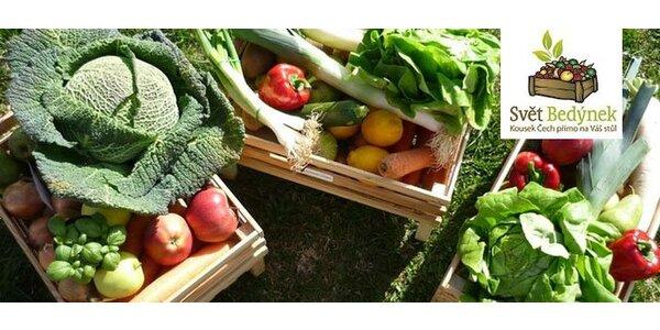190 Kč za rodinnou bedýnku plnou čerstvého ovoce a zeleniny od farmářů!