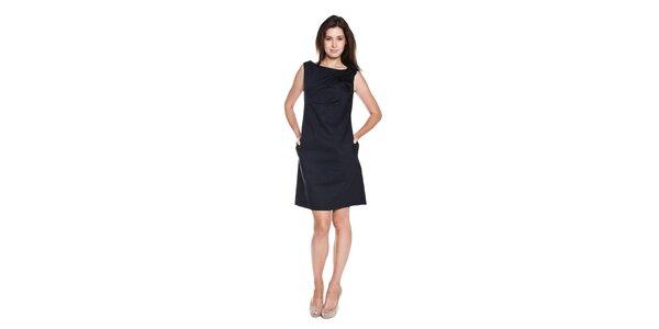 Dámské tmavě modré šaty Moschino Cheap & Chic s růžičkami