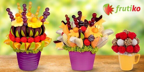 Ovocné a dortíkové kytice či bonboniéry Frutiko