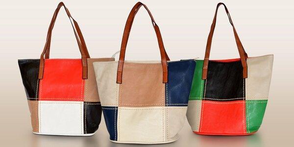 Prostorná dámská kabelka plná barev