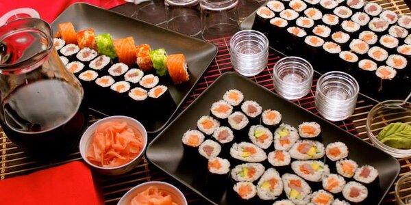 Sushi raut s degustací, ochutnávka vín a dezert