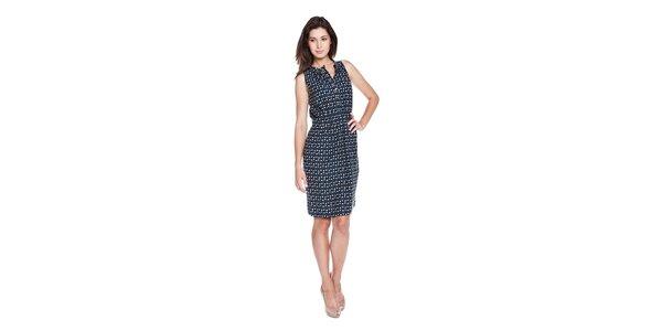 Dámské tmavě modré šaty Moschino Cheap & Chic s abstraktním vzorem