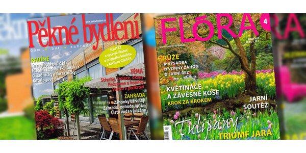Časopis Pěkné bydlení a Flora na zahradě