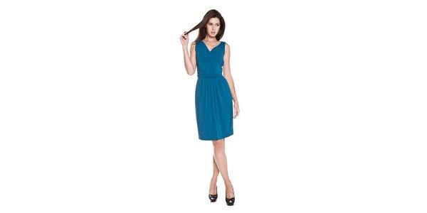 Dámské tyrkysové splývavé šaty Moschino Cheap & Chic