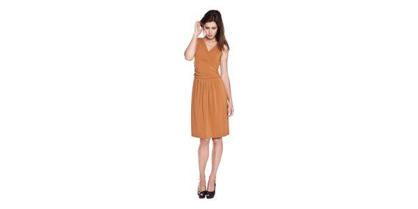 Dámské hnědé splývavé šaty Moschino Cheap & Chic