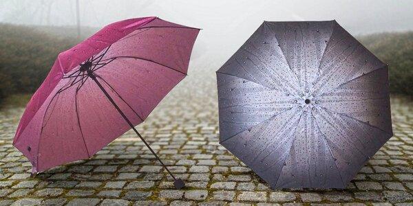 Originální skládací deštník s motivem deště