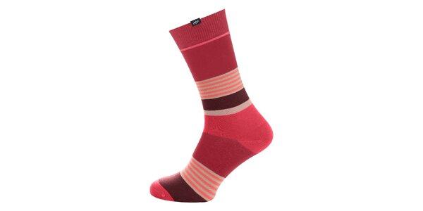 Dámské růžové proužkované ponožky Minga Berlin - 3 páry