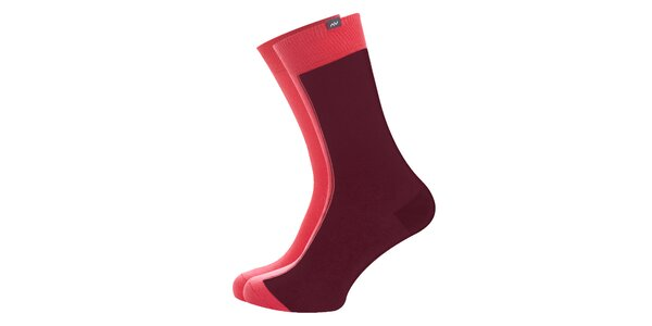 Dámské růžovo-hnědé ponožky Minga Berlin - 3 páry