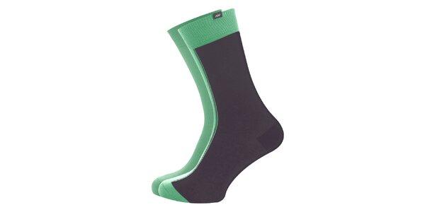 Dámské šedo-zelené ponožky Minga Berlin - 3 páry