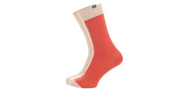Dámské pudrovo-oranžové ponožky Minga Berlin - 3 páry