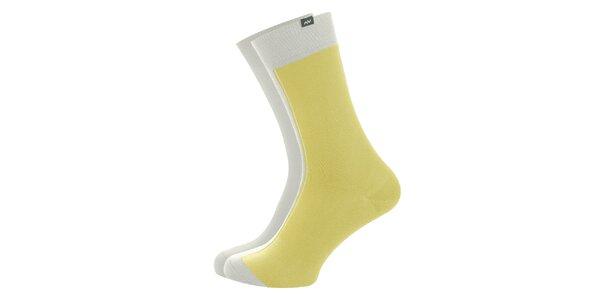 Dámské žluto-bílé ponožky Minga Berlin - 3 páry