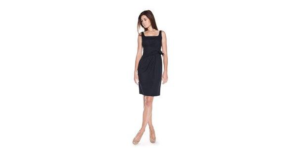 Dámské tmavě modré šaty Moschino Cheap & Chic s mašlí u pasu