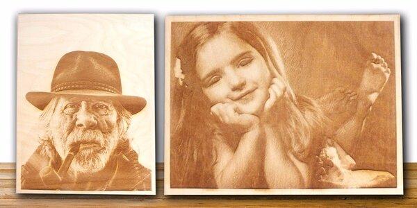 Gravírování do dřeva – vlastní foto či obrázek