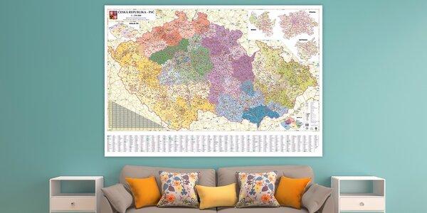 Nástěnné mapy Česka pro nadšené cestovatele