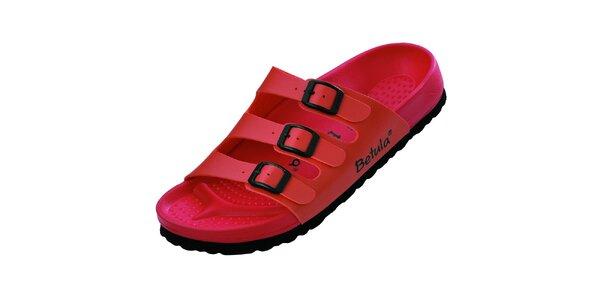 Dámské červeno-růžové pantofle Betula