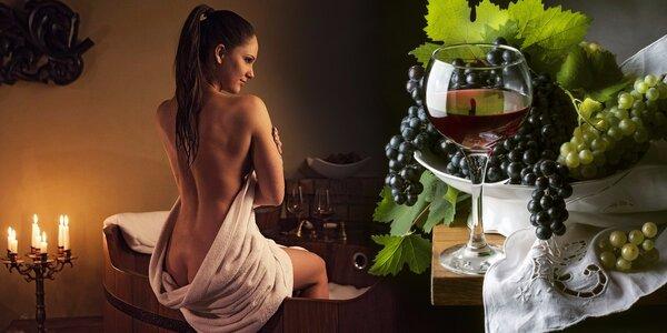 Oddech ve víně pro dva: Koupel i pohoštění