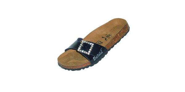 Dámské tmavě modré pantofle Betula s kamínky