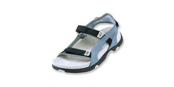 Dámské šedo-modré textilní sandály Betula