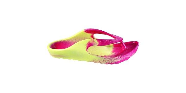 Pánské růžovo-žluté žabky Newalk