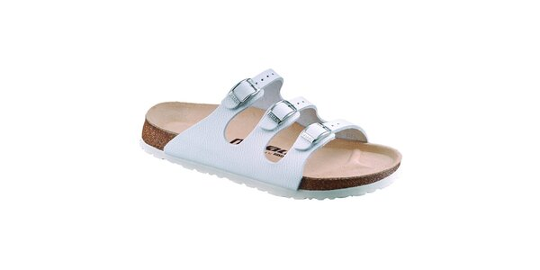 Dámské bílé kožené pantofle Newalk