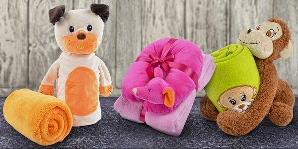 Dětské deky s aplikací, záhlavníkem, nebo plyšákem