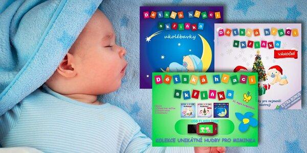 2x CD nebo 8GB flash disk s hudbou nejen pro kojence
