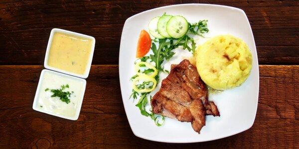 Carpaccio z červené řepy a steakové menu pro dva
