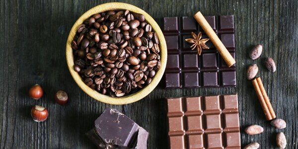 Degustace výběrových káv nebo světových čokolád